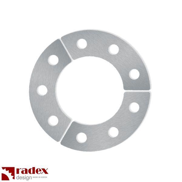Robustní 3mm nerezové podložky RADEX pro uchycení rozety do výpletu kola (3ks) pro motokolo