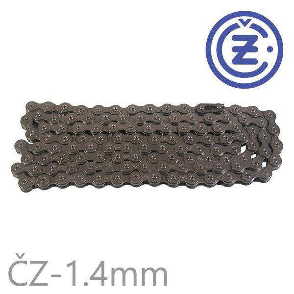 Řetěz ČZ STRAKONICE 116 článků boční destička 1,4mm EXTRA SILNÝ (včetně spojky řetězu) pro motokolo