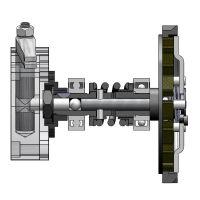 Vnitřní pohyblivá osa hřídele spojky pro motokolo