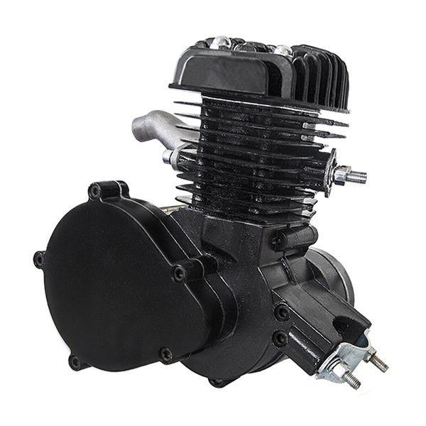 Motor samotný na motokolo 48ccm 2t Černý (přídavný motor na kolo)