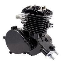 Motor samotný na motokolo 80ccm 2t Černý (přídavný motor na kolo)