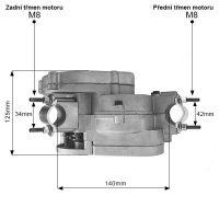 Spodek motoru (rozměry)